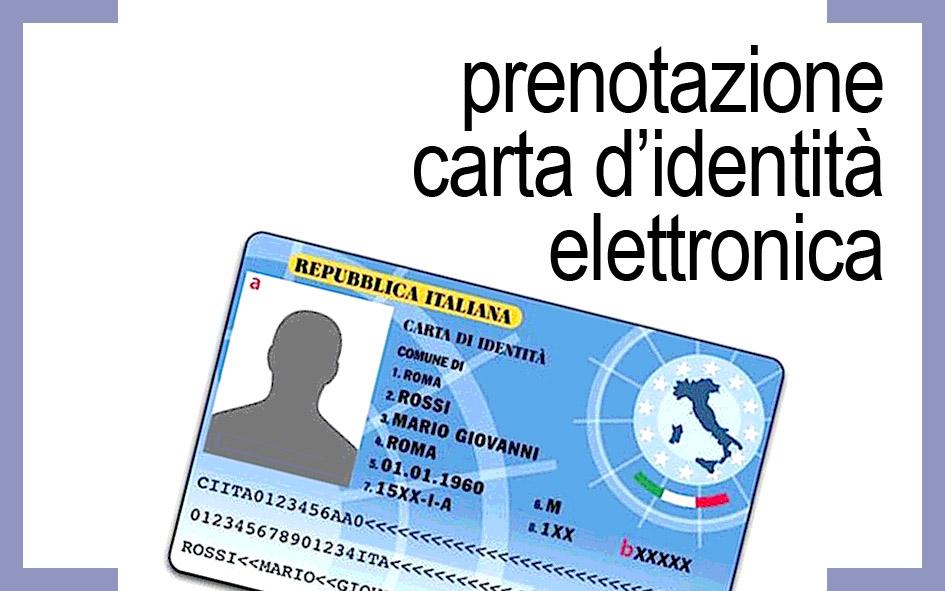 PRENOTAZIONE CARTA D'IDENTITA' ELETTRONICA